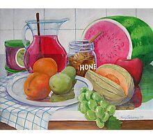 Honey and Fruit Photographic Print