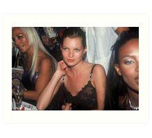 Model Kate Moss NYC 1996 Art Print