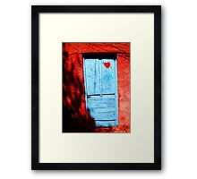 Door in love Framed Print