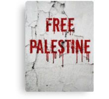 Free Palestine - painted Canvas Print