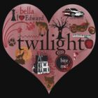 Twilight Heart Collage T-Shirt by fifilaroach