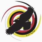 Eagle and medicine wheel colors twist by Nativeexpress