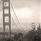Golden Gate Bridge (in sepia) by SteveOhlsen