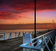 Shorncliffe Pier sunrise, Brisbane. by David James