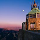 Mt. Diablo Lookout Tower at Twilight by MattGranz