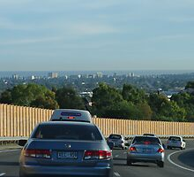on the Southern Expressway looking towards Glenelg by janfoster