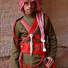 Guard at Petra, Jordan by Julie Waller