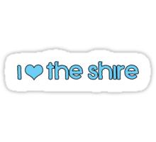 I Love The Shire Sticker