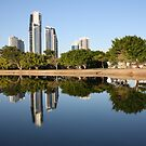 Reflections of Surfers Paradise by Geoff Maltby