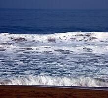 Blue Sea and Beach Waves by Daidalos
