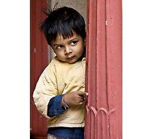 Shy child Photographic Print