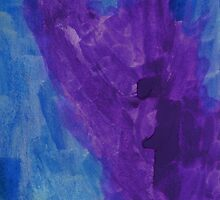 Angel (watercolour - painted by Celina 3½  years old) by Tove