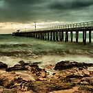 Stormy Morn at Point Lonsdale by Margaret Metcalfe