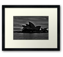 Black and White Aria - Sydney Opera House - The HDR Experience Framed Print