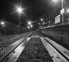 St. Ives railway line at night by sblight
