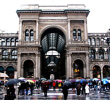 A rainy day in Milan by Vittorio Magaletti