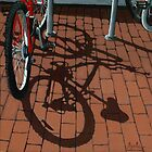 Bikes & Bricks-  oil painting by LindaAppleArt