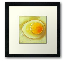 Egg on a Plate - realism still life Framed Print