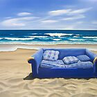 Purple Piha Sofa III (2008) by Lauren Worsley
