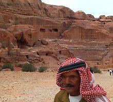 Vendor in Petra, Jordan by Julie Waller