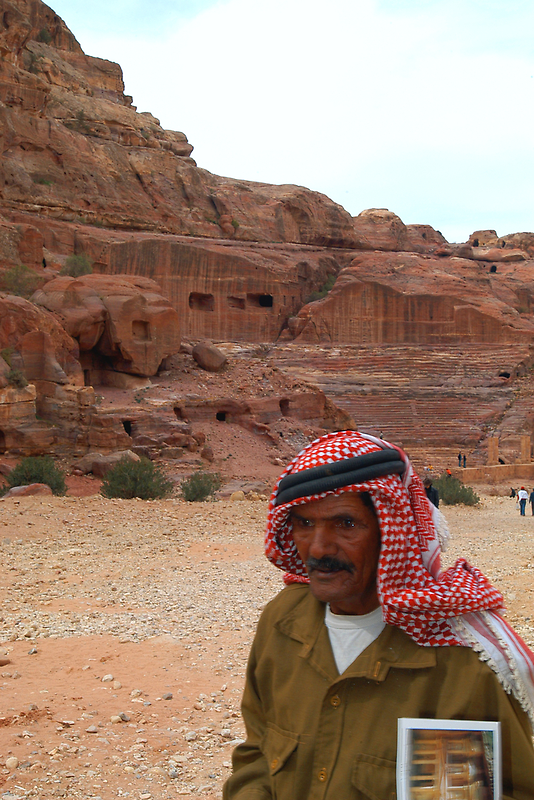 Vendor in Petra, Jordan by Julie Waller