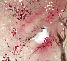 Bird in the Berries by lily pang