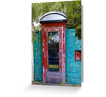 Come in through my telephone box Greeting Card