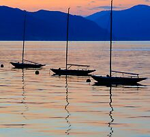 3 little boats by Andrew Walker