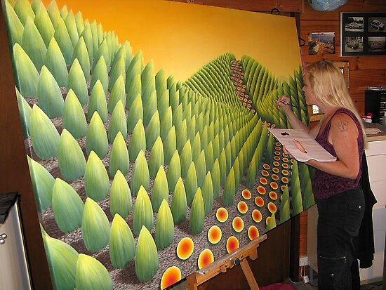 Painter @ work by Patricia Van Lubeck