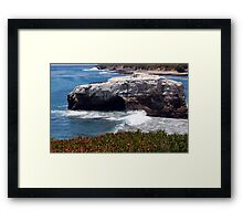 Natural Bridges State Beach Framed Print