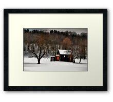 In Winter's Grip Framed Print