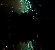 Fireworks on Golden Ponds by Bo Insogna