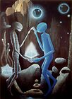 Love thru the Ages - painting, fantasy by LindaAppleArt