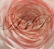 SIGNATURE ROSE AND MONOGRAM by artist4peace