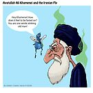 Ayatollah Ali Khamenei and The Iranian Fly by georgiaart1974