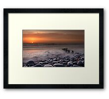 Westward Ho Groyne Framed Print
