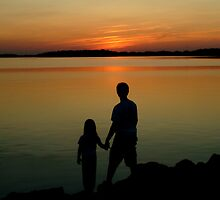 070509-26  A BROTHER, A SISTER, AND A SUNSET by MICKSPIXPHOTOS