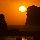 Sunset Over the Ocean with Rock Stacks by Jeff Goulden