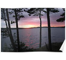 Sunset Over  Lake CatchaComa 1 Poster