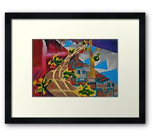 City landscapes : Outward bound Framed Print