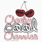 Cheeky Cool Cherries T-shirt by fatfatin