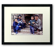 One child, China Framed Print