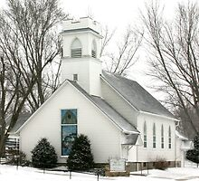 Country Church in the Snow by Tony Weatherman