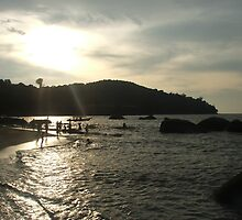 Penang beach at sunset by emma71
