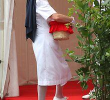 Red Cross nurse at work by annalisa bianchetti