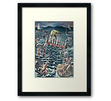 all at sea Framed Print