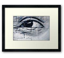 Graffiti eye Framed Print