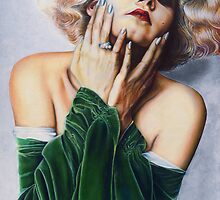 Jean Harlow Color Pencil @ www.KeithMcDowellArtist.com   by © Keith McDowell, Artist