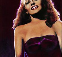 Rita Hayworth Color Pencil @ www.KeithMcDowellArtist.com by © Keith McDowell, Artist
