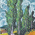 Cypresses by MerrilynW